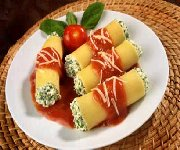 Cannellonis au fromage ricotta et aux épinards