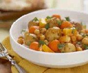 Cari aux pommes de terre et légumes