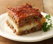 Carrés de pain de viande farcis (sans gluten)