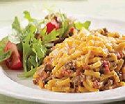 Casserole de macaroni au cheddar et au boeuf