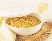 Casserole de poireaux et pommes de terre au prosciutto
