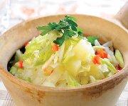 Casserole de pommes de terre au chou
