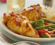 Casserole de poulet doré