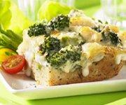 Casserole de poulet et brocoli Alfredo