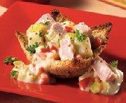 Cassolettes au jambon et aux petits légumes