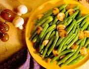Champignons et haricots verts au beurre