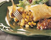 Chaussons indiens aux lentilles et au maïs