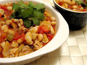 Chili poulet et haricots blancs