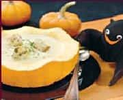 Citrouille en soupière et son potage