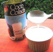 Mousse à la crème de coco et aux petits fruits éxotiques