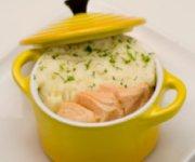 Cocotte de saumon et purée