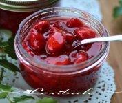 Confiture de fraises d'automne à la menthe sans cuisson