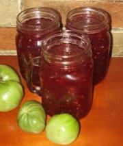Confiture aux tomates vertes et framboises