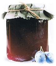 Confiture de prunes damson