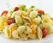 Coquilles au brocoli, aux tomates et au fromage
