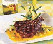 Côte de Veau, sauce aux agrumes et à l'huile d'olive