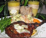 Côte de veau grillé « Asia de Cuba »