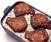 Côtelettes de porc teriyaki SHAKE'N BAKE avec riz aux ananas