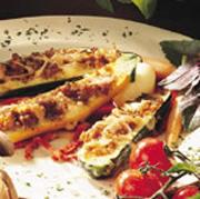 Courgettes farcies à la saucisse italienne