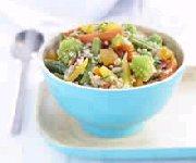 Couscous aux légumes avec abricots et graines de tournesol