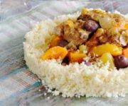 Couscous doré aux carottes et au romarin