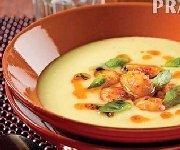 Crème de poireaux et gnocchis