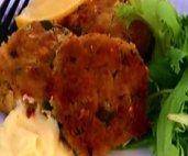 Croquettes de crabe, lime et citronnelle