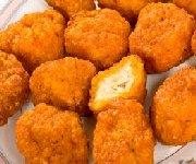 Croquettes ou doigts de poulet avec deux trempettes