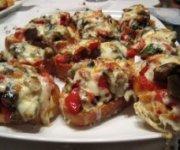 Crostinis aux légumes grillés