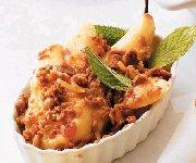 Croustillant rôti aux poires et gingembre