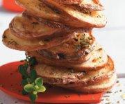 Croustilles de pommes de terre frites au four