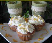 Cupcakes fleuris parfumés à l'orange