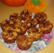 Muffins à la citrouille et aux 2 chocolats