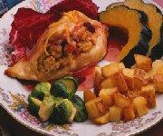 Dinde rôtie avec sauce orange-canneberges
