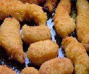 Doigts de poulet à la friture
