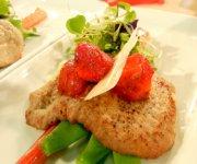 Escalopes de veau aux fraises