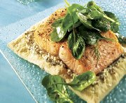 Étagé de saumon à l'épinard