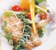 Filets de mérou, salsa verde au persil plat et aux câpres
