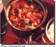 Foie de boeuf et bacon en casserole