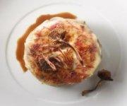 Galettes de pommes de terre au poulet et au foie gras
