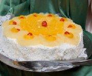 Gâteau à l'ananas et aux mandarines