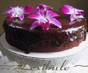 Gâteau aux bananes, glaçage à la Barre Mars