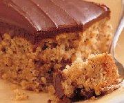 Gâteau aux bananes nappé de glaçage au chocolat