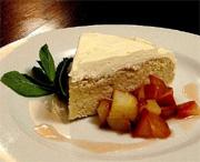 Gâteau aux épices et babeurre, compote de poires