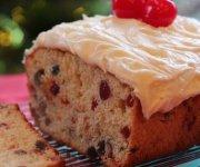 Gâteau aux fruits, glacé au Mascarpone