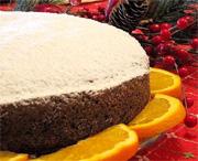 Gâteau à l'orange et à l'huile d'olive et sirop de Chianti
