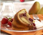 Gâteau aux poires et aux canneberges