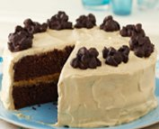 Gâteau beurre d'arachide et rochers chocolatés