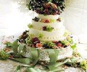Gâteau de mariage à l'américaine