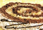 Gâteau éclair roulé au chocolat